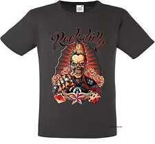 T Shirt graphite Greaser Rockebilly Tattoo&Gothikmotiv Modell Rockabilly
