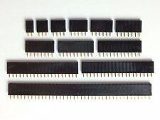 20x Buchsenleiste | 2,3,4,5,6,7,8,10,12,20,40 Pin | RM 2,54 mm