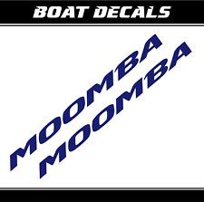 "Moomba boat decals 2x stickers XXL vinyl 72"" boat accesories wakeboard"