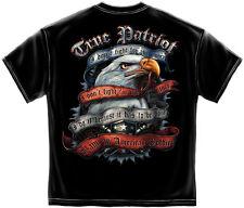 Patriotic T-Shirt True Patriot Black