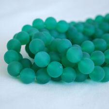 Grade Un Vert Agate Mat Givré Gemme Perles Rondes - 4 mm 6 mm 8 mm 10 mm