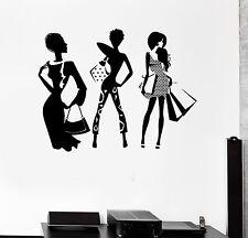 Beautiful Style Fashion Girl Room Shopping Art Wall Sticker Vinyl Decal (ig2039)