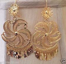 Mexican Filigree Earrings Handmade From Oaxaca Style#3582. Aretes de Filigrana