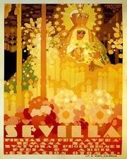Spain Sevilla Seville City Spring Festival Spanish 16X20 Vintage Poster FREE S/H