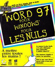 C1 Gookin WORD 97 pour WINDOWS pour les Nuls EPUISE