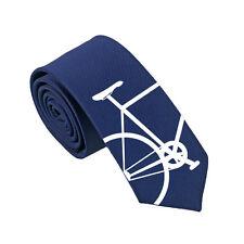 Bicycle 100% Silk Tie. Bike Tie. Slim Tie. Cyclist Christmas Gift. Wedding Tie.