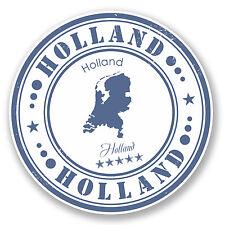 2 x Holland Vinyl Sticker Luggage Travel iPad Laptop Helmet Gift Map Flag #4556