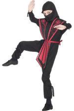 Boys Ninja Samurai Fancy Dress Warrior Costume Outfit Karate Age 4 - 12