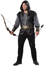 Hooded Huntsman Renaissance Men Plus Size Costume