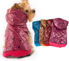 Diseñador Con Capucha Abrigo Perro-Mascota Chaqueta Chaleco Ropa - 4 Colores & 6 Tamaños Disponibles