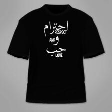 Respect And Love T-Shirt. Arabic Islam Allah God Peace Anti-Trump TShirt Tees