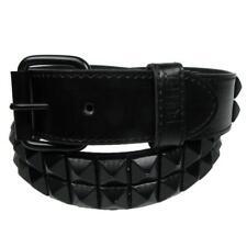 Cinturon polipiel 2 filas piramidal black punk faux leather belt Bullet G0045F