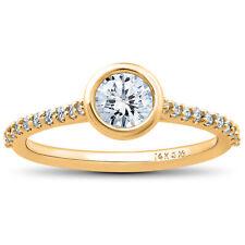 G-SI 3/4ct Charlotte Diamond Engagement Ring 14k Yellow Gold Lab Grown Bezel