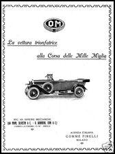 OM AUTO TRIUNFO MIL MIANI MILLAS SILVESTRI COMI DE GRONDONA BRESCIA 1927