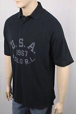 Polo Ralph Lauren Black Grey USA 1967 Classic Fit Mesh Shirt NWT