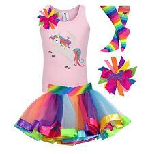 Bubblegum Divas Girls Unicorn Shirt Rainbow Party Outfit Custom Birthday Gift