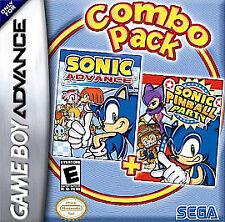 ***SONIC ADVANCE & SONIC PINBALL PARTY GAME BOY ADVANCE GBA COSMETIC WEAR~~~