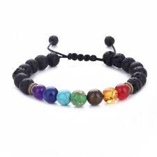 7 Chakra Christal Stones Bracelet Healing Beads Jewellery Natural Reiki Gift UK
