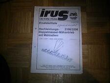 Orig. ETL Irus Hochleistungs-Doppelmesser-Mähantrieb mit Mähbalken