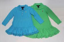 BRAND NEW  AUTHENTIC RALPH LAUREN GIRLS LONG SLEEVE DRESS SIZE 3.4.6