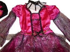 Süsse HEXE Pink HEXENKOSTÜM 98-104-110-116-122 Spinne Spinnennetz Kostüm Glitzer