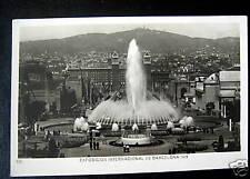 Spain~1929 Barcelona~Intl Expo~Fuente Magica~Rppc