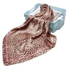 "Women's Fashion Leopard Print Square Scarf Silk Satin Shawl Hijab Wraps 35""*35"""