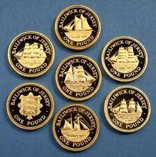 £ 1 una sterlina MONETE. ISOLA di Man, Gibilterra, Guernsey, Jersey, un sacco di date
