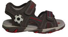 SUPERFIT Schuhe SandalettenTrekking Sandale grau rot Fußball Klettverschluss NEU