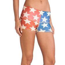 Teeki Star Power Shorts Red White Blue Workout Fitness Exercise Yoga XS & L NWT