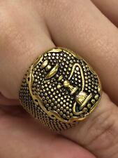 Men's Vintage Hookah Sheesha Heavy Rings 14k Gold filled Retro Ring Size 6-13