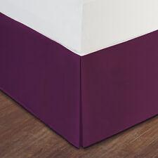 "Purple Luxury Hotel Bed Skirt: Tailored Pleat, 14"" Drop"