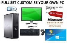 FULL DELL INTEL QUAD CORE DESKTOP TOWER PC & TFT COMPUTER , WINDOWS 10 or 7