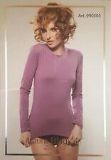 LAURA BIAGIOTTI. T-Shirt donna Manica lunga 990505 Cotone Modal elasticizzato.