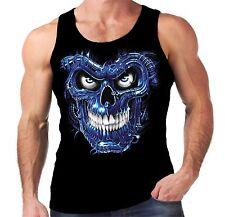 Velocitee Mens Vest Terminator Skull Biker Goth Horror Skeleton Skull A10265