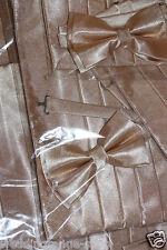 Kummerbund / Bauchbinde Fliege / bow tie Set creme / gold