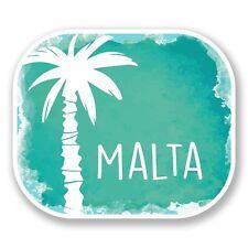 2 X Malta Pegatina de vinilo Laptop Equipaje de Viaje Coche #6460