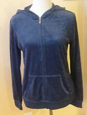Banana Republic ladies long sleeve velour hoodie sweater blue sizeS L XL NWT