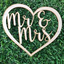 Mr & Mrs inside Love Heart Wedding Decor, Flower Wall, Wall Hanging, RAW MDF