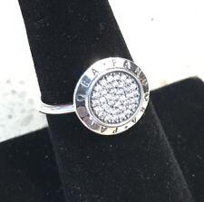 Authentic Pandora Signature Pavé Ring #190912CZ +HINGED BOX & POLISHING CLOTH