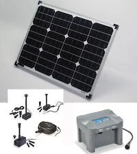 50 W Pompe solaire batterie DE BASSIN CASCADE étang jardin NEUF
