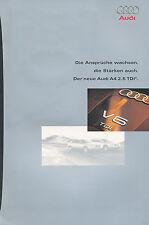 AUDI a4 2.5 TDI prospetto 3.2.98 auto prospetto brochure 1998 auto automobili Germania