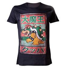 Sega Sonic Bowser Negro Vintage Impresión Camiseta De Mercancía Oficial Sega
