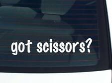 got scissors? SCISSOR BARBER SEWING SEW FUNNY DECAL STICKER ART WALL CAR CUTE
