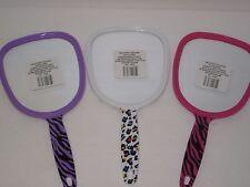 Girls Handheld Vanity Mirror - Tiger Animal Print, Pink, Purple Princess Parties