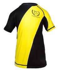 Kids Competition Rash Guard Short Sleeve Yellow BJJ MMA No-gi