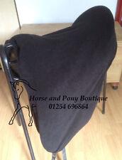 Black polar fleece saddle cover, ALL SIZES
