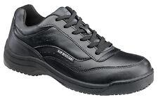 Skidbuster Mens Slip Resistant Athletic W Black Leather Shoes