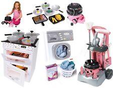 Per bambini giocattolo elettronico Fornello RONDELLA Aspirapolvere carrello pulizie Regalo di Natale