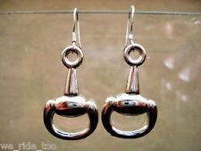 --Silver Equestrian Equine Snaffle Bit Earrings...Sterling Silver Ear Wire--925
